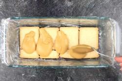 Příprava receptu Rychlý nepečený dort se salkovým krémem připraven za 15 minut, krok 3
