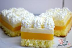 Příprava receptu Svěží pomerančový zákusek se šlehačkou, krok 10