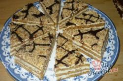 Příprava receptu Velmi jednoduchá, chutná a rychlá marlenka bez válení těsta, krok 2