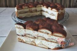Příprava receptu Tiramisu v dortové formě, krok 2