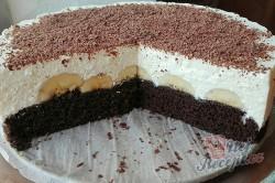 Příprava receptu Banánový dort s tvarohovým krémem, krok 2