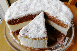 Příprava receptu Jednoduchý kokosový dort, krok 2