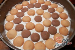 Příprava receptu Nepečený broskvový dort, krok 8