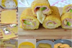 Příprava receptu Měkkoučké rolky bez kynutí, plněné šunkou, sýrem a cuketou, krok 1