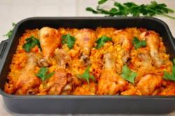 Příprava receptu ,,Líná,, kuřecí stehna z jednoho pekáče, krok 5