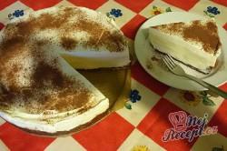 Příprava receptu Nepečený dort s vanilkovým krémem, krok 12