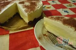 Příprava receptu Nepečený dort s vanilkovým krémem, krok 13