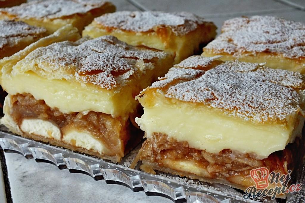 Jablkovo-pudinkový koláč z listového těsta - sbírka, krok 4