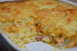 Příprava receptu Pečená rýže se šunkou a sýrem, krok 6
