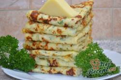 Příprava receptu Nejlepší slané palačinky s česnekem, sýrem a bylinkami, krok 9