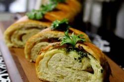 Příprava receptu Křupavé česnekové bagety, krok 1