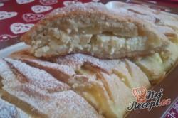 Příprava receptu Prokládaný křehký závin s tvarohovou náplní a jablky, krok 14