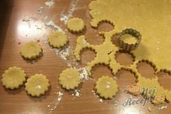 Příprava receptu Vynikající záměna za bramborové lupínky nebo slané tyčinky. Slaná sýrová pochoutka k filmu., krok 3