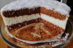 Příprava receptu Jednoduchý kokosový dort, krok 3