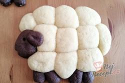 Příprava receptu Velikonoční pečivo OVEČKY bez formy na pečení, krok 4