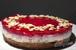 Příprava receptu Bez cukru, bez mouky a hlavně za 10 minut připraven cheesecake s malinami, krok 2