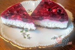 Příprava receptu Nepečený tvarohový dort bez mouky, krok 11