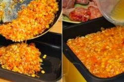 Příprava receptu ,,Líná,, kuřecí stehna z jednoho pekáče, krok 3